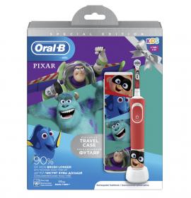 Oral-B Παιδική Επαναφορτιζόμενη Ηλεκτρική Οδοντόβουρτσα Special Edition Pixar Kids 3+ & Θήκη Ταξιδίου 1τμχ