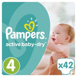 PAMPERS Active Baby-Dry No.4+ (8-14Kg) 42 Πάνες