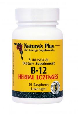 NATURES PLUS Vitamin B-12 1000 mcg 30Herbal Lozenges