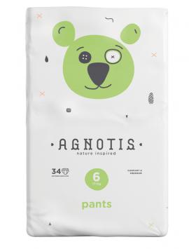 Agnotis Βρεφικές Πάνες Βρακάκι No 6 (17+ Kg) 34τμx