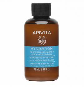 Apivita Μini Shampoo Ενυδάτωσης με Υαλουρονικό Οξύ & Αλόη 75ml